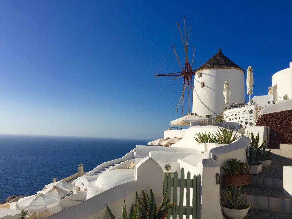Weisse Häuser auf Santorini
